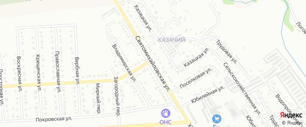 Святомихайловская улица на карте Губкина с номерами домов