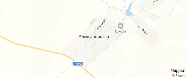 Карта села Александровки в Белгородской области с улицами и номерами домов