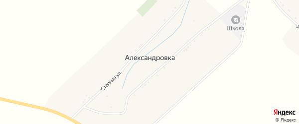 Улица Мира на карте села Александровки с номерами домов
