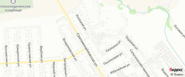 Казацкая улица на карте Губкина с номерами домов