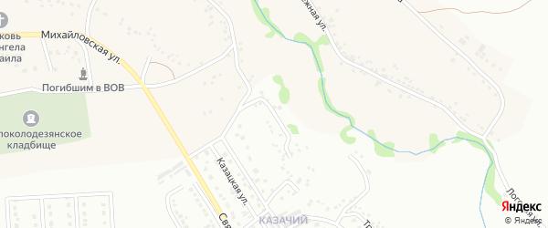 Городская улица на карте Губкина с номерами домов