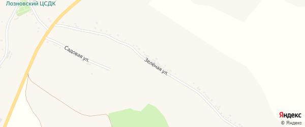Зеленая улица на карте Лозного села с номерами домов