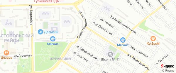 Переулок Маяковского на карте Губкина с номерами домов