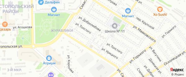 Переулок Добролюбова на карте Губкина с номерами домов