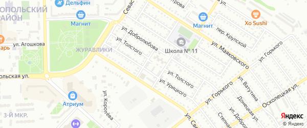Улица Л.Толстого на карте Губкина с номерами домов