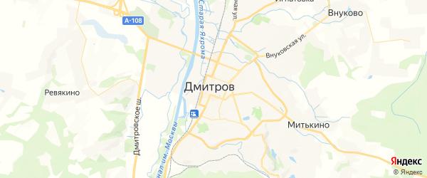 Карта Дмитрова с районами, улицами и номерами домов: Дмитров на карте России