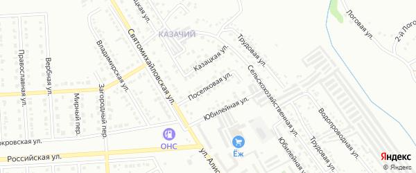 Поселковая улица на карте Губкина с номерами домов