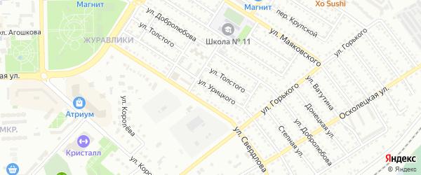 Улица Урицкого на карте Губкина с номерами домов