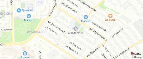 Улица К.Маркса на карте Губкина с номерами домов