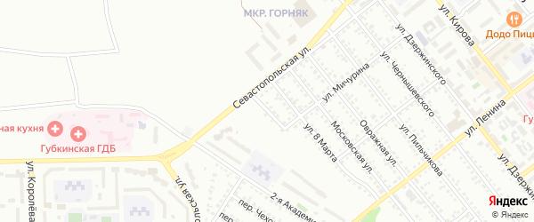 Улица Гоголя на карте Губкина с номерами домов