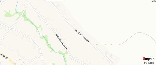 Улица Жибоедова на карте села Теплого Колодезя с номерами домов