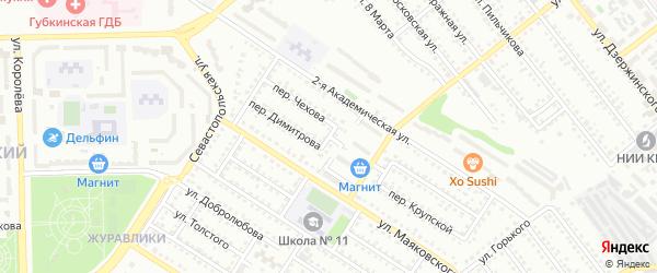 Переулок Матросова на карте Губкина с номерами домов