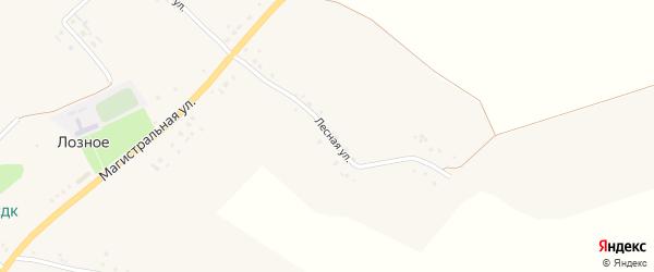 Лесная улица на карте Лозного села с номерами домов