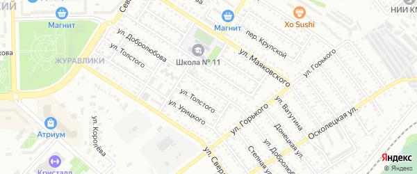 Улица Добролюбова на карте Губкина с номерами домов