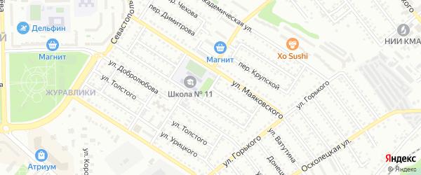 Театральный переулок на карте Губкина с номерами домов