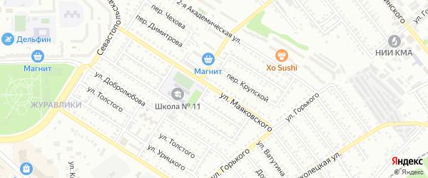 Улица Маяковского на карте Губкина с номерами домов