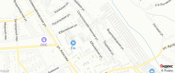 Юбилейная улица на карте Губкина с номерами домов