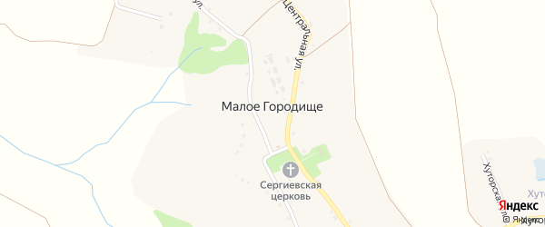 Хуторская улица на карте села Малого Городища с номерами домов