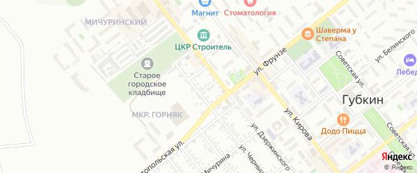 Банный переулок на карте Губкина с номерами домов