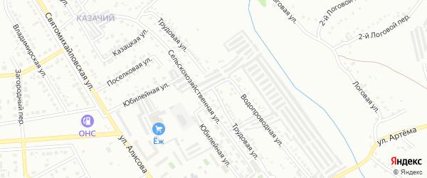 Трудовая улица на карте Губкина с номерами домов