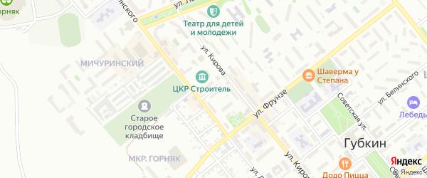 Улица 9 Января на карте Губкина с номерами домов