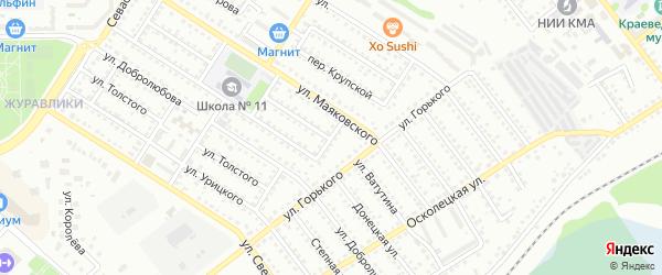Переулок Островского на карте Губкина с номерами домов