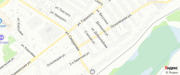 Степная улица на карте Губкина с номерами домов