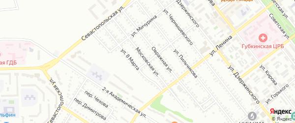 Московская улица на карте Губкина с номерами домов