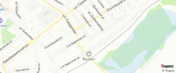 Заречная 2-я улица на карте Губкина с номерами домов