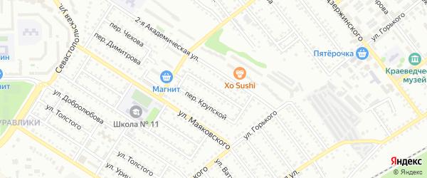 Переулок Макаренко на карте Губкина с номерами домов