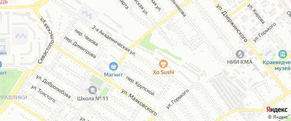 Академическая 2-я улица на карте Губкина с номерами домов