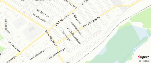 Осколецкая улица на карте Губкина с номерами домов