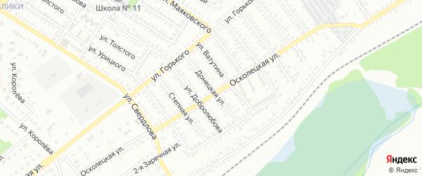 Донецкая улица на карте Губкина с номерами домов