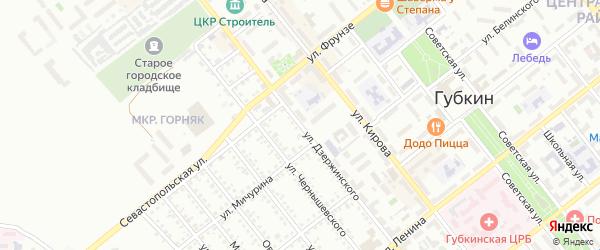 Улица Дзержинского на карте Губкина с номерами домов