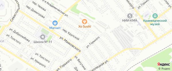 Переулок Чкалова на карте Губкина с номерами домов