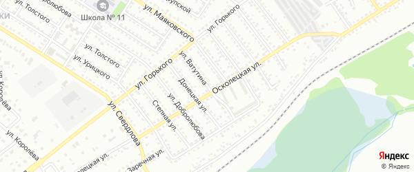 Улица Ватутина на карте Губкина с номерами домов