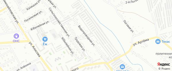 Водопроводная улица на карте Губкина с номерами домов