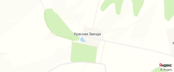 Карта поселка Красной Звезды в Белгородской области с улицами и номерами домов