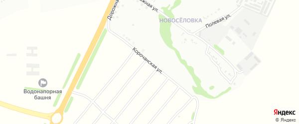 Корочанская улица на карте Губкина с номерами домов
