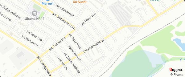 Ленинградская улица на карте Губкина с номерами домов
