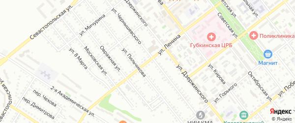 Улица Ленина на карте Губкина с номерами домов