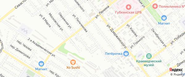 Улица Пильчикова на карте Губкина с номерами домов