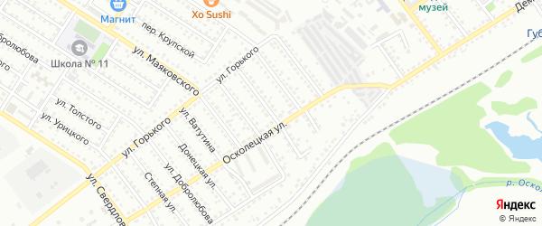 Улица Чапаева на карте Губкина с номерами домов