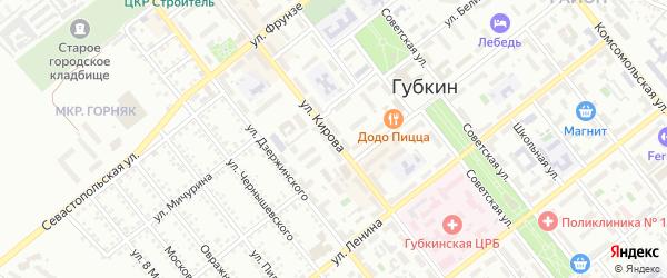 Улица Кирова на карте Губкина с номерами домов