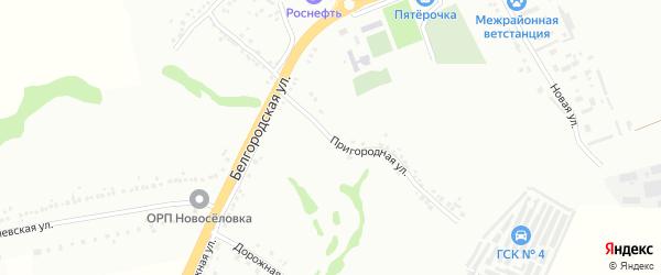 Пригородняя улица на карте Губкина с номерами домов