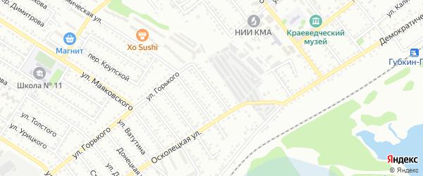 Академическая 1-я улица на карте Губкина с номерами домов