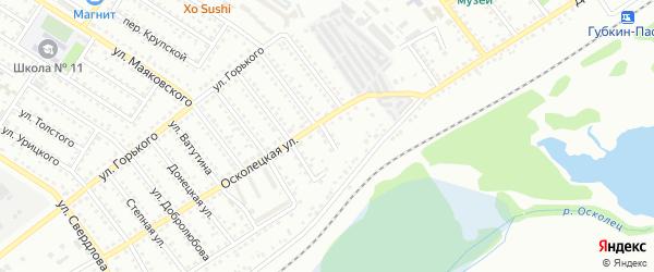 Яблочный переулок на карте Губкина с номерами домов