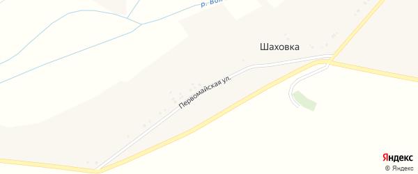Первомайская улица на карте хутора Шаховки с номерами домов