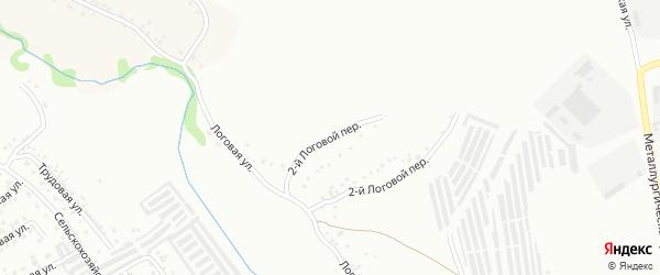 Логовой 1-й переулок на карте Губкина с номерами домов