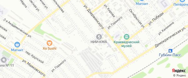 Улица Горького на карте Губкина с номерами домов